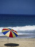 Colored Umbrella on Beach  Kovolam  Kerela  India