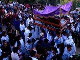 Pinotepa Nacional Easter Procession Carrying Coffin  Pinotepa Nacional  Mexico