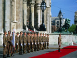 Guard of Honour at Budapest Parliament Building  Budapest  Hungary