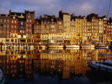 Morning Reflections of Vieux Bassin  Honfleur  Basse-Normandy  France