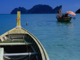 Boats and Ko Phi Phi Leh in Distance on Southern Andaman Coast  Krabi  Thailand
