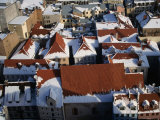 The Old Town's Snowy Rooftops from the Spire of St Peter's Church  Riga  Riga  Latvia