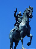 Equestrian Statue (1848)Of King Felipe III in Plaza Mayor  Madrid  Spain