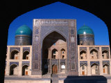 Entrance to Mir-I-Arab Medressa  Uzbekistan