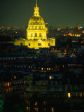 Napoleon's Tomb  in Eglise Du Dome of Hotel Des Invalides  at Night Paris  France