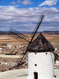 Restored Windmill Looking Over Town  Consuegra  Spain