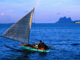 Outrigger Canoe in Bay of Semporna  Semporna  Sabah  Malaysia