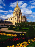 Dome Church and Landscaped Garden  Paris  France