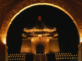 Chiang Kai Shek Memorial at Night  Taipei  Taiwan