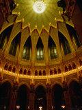 Ceiling of the Main Rotunda Inside the Parliament Building  Budapest  Hungary