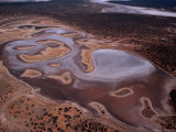 An Aerial View of Lake Gairdner National Park - Gawler Ranges  South Australia