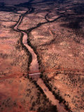 The Great Northern Highway Crossing Over Fortescue River  Karijini National Park  Australia