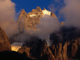 Evening Light and Cloud on Chamonix Aiguilles  Chamonix Valley  Rhone-Alpes  France