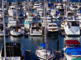 Boats at Marina of Fisherman's Wharf  San Francisco  California  USA