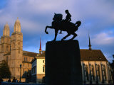 Statue of General Waldmann/Grossmunster  Zurich  Switzerland