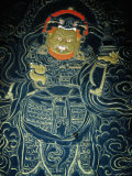 Detail of Image in Watch Tower Museum (National Museum)  Paro Town  Paro  Bhutan