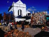 Capilla Del Calvario Church in Main Square  Chichicastenango  Guatemala