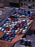 Overhead View of Full Carpark  Bogota  Colombia