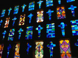 Stained Glass Windows of the Modern Cathedral  Barranquilla  Colombia