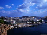 Wharf and Buildings Surrounding Voulismeni Lake  Agios Nikolaos  Greece
