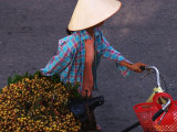Women Pushing Bicycle Loaded with Berries  Old Quarter  Hanoi  Vietnam
