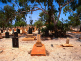 Graves and Tombstones in a Japanese Cemetery  Broome  Western Australia  Australia