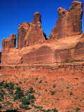 "Rock Formation Known as ""Park Avenue"" Arches National Park  Utah  USA"