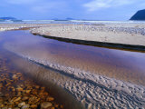 Shallow Water on Stones and Sand at Estuary on Cox Bluff  South West Nat Park  Tasmania  Australia