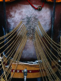 Detail of Pierced Body of Hindu Devotee at Thaipusam Festival  Singapore