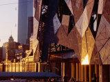 Exterior Detail of Federation Square  Melbourne  Australia
