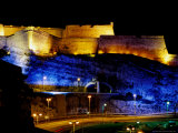 Fort Saint-Nicolas  Lit Up at Night  Marseille  France