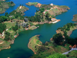 Aerial View of Embalse Del Penol  El Penon  Colombia