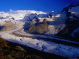 Gorner Glacier and Monte Rosa Massif  Valais  Switzerland