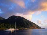 Yachts Moored South of Rouseau  West Coast  Roseau  Dominica