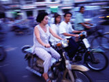 Motor Bike Traffic on Crowded Streets  Ho Chi Minh City  Ho Chi Minh  Vietnam