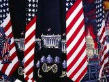 Patriotic Ties at Souvenir Stall Near White House  Washington DC  Virginia  USA