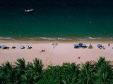 Sunbathers on Beach  Nha Trang  Vietnam