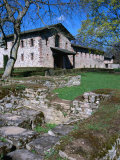 Reconstructed Fortress on Ancient Roman Site  Saalburg  Germany