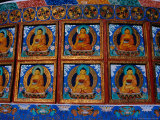 Stone Relief Sculptures of Buddha on Shanti Stupa  Ladakh  India