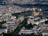 Eglise Du Dome and Hotel Des Invalides Seen from Tour Montparnasse  Paris  France