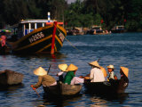 Boat Traffic in Hoi An  Hoi An  Quang Nam  Vietnam
