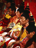 Tibetan Monks During Ceremony  Lhasa  China