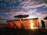 Sweeping Nha Trang Beach at Sunrise  Nha Trang  Khanh Hoa  Vietnam