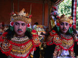 Actors at Ngenteg Linggih Festival in Kedewatan Village  Ubud  Indonesia