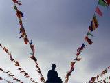 World's Tallest Outdoor Bronze Buddha at Po Lin Monastery  Lantau Island  Hong Kong  China