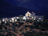 Church and Buildings on Hill  Lassithi  Greece