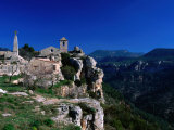 Church in Cliff-Top Village  Siurana  Catalonia  Spain