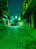 Street at Night  Flores  Guatemala
