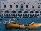 Shoe-Shaped Boat at Start of Vogalonga Rowing Marathon  Venice  Veneto  Italy