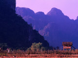West Bank of Nam Song River  Vang Vieng  Laos